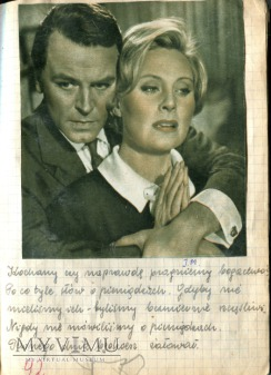 Zbigniew Cybulski Michèle Morgan + scrapbooking