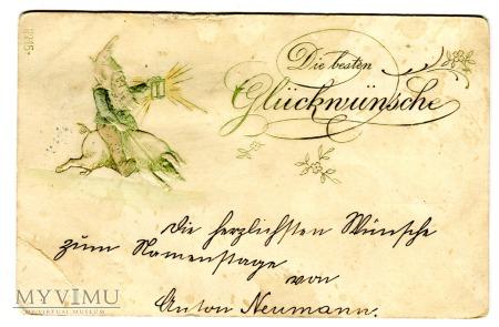 1900 Krasnal Świnka i lampka - Imieniny Matyldy