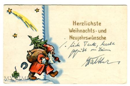 1942 Święta Święty Mikołaj Red Santa Claus