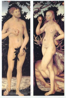 Duże zdjęcie L. Cranach - Adam i Ewa