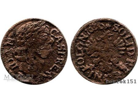 szeląg koronny 1660 12