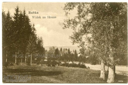 Rabka 1907. Widok na Słonne