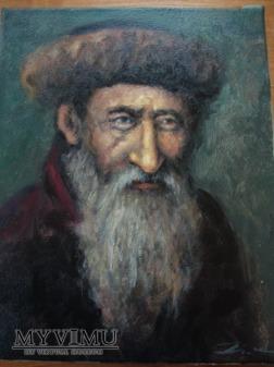 Duże zdjęcie portret Żyda olej na płótnie