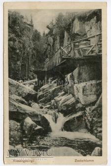 Karkonosze - Wąwóz Kamieńczyka Zackelklamm 1926
