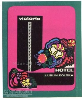 Nalepka hotelowa - Lublin - Hotel Victoria