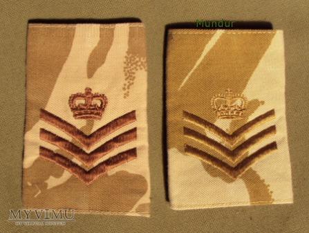 Wielka Brytania-oznaka stopnia: staff sergeant