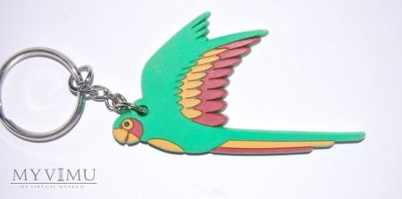 Brelok papuga