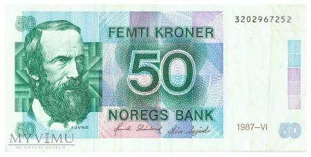 Duże zdjęcie Norwegia - 50 koron (1987)