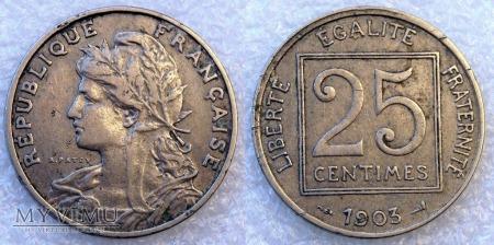 Francja, 25 CENTIMES 1903