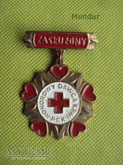 Odznaka Zasłużony Honorowy Dawca Krwi PCK