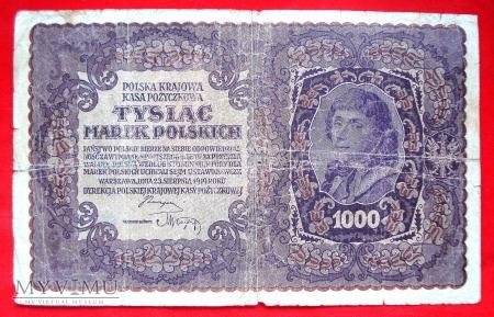1000 marek polskich 1919 rok