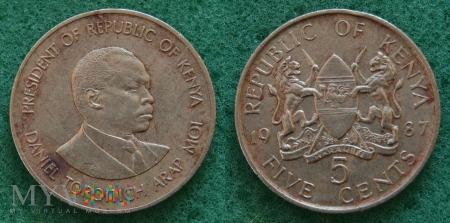 Kenia, 5 cents 1987