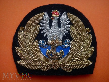 emblemat oficerski z orłem Marynark iWojennejII RP
