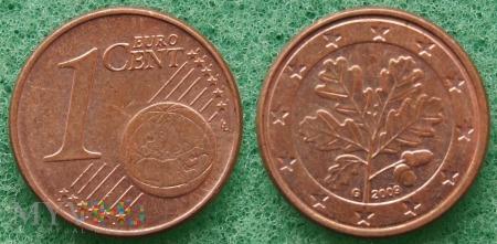1 EURO CENT 2009 G