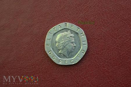 Duże zdjęcie Moneta brytyjska: 20 pence