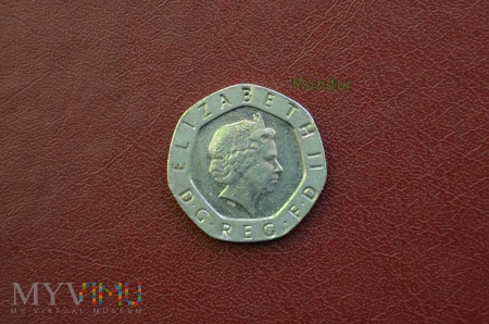Moneta brytyjska: 20 pence