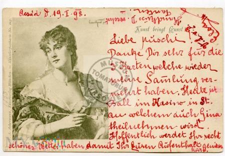 Pocztówka okolicznościowa 1898