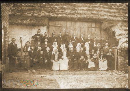 Duże zdjęcie wielkopolskie wesele rok 1909