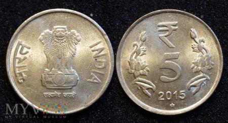 Indie, 5 Rupii 2015