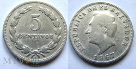 Salwador, 5 centów 1967