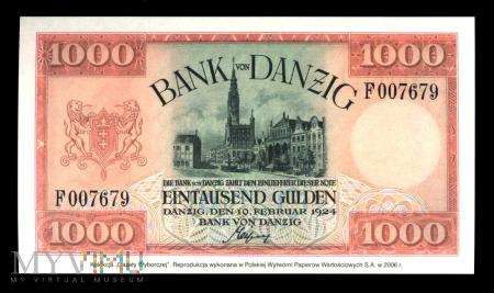 Duże zdjęcie 1000 guldenów, 1924