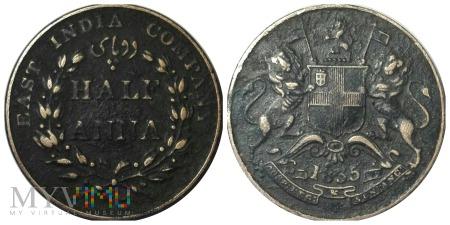 Indie Brytyjskie - 1/2 anna 1835