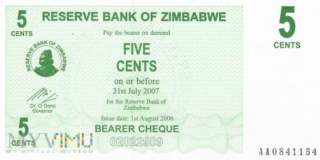 Zimbabwe - 5 centów (2006)