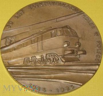 Medal 50 lat elektryfikacji kolei w Polsce