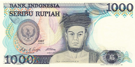 Indonezja - 1 000 rupii (1987)