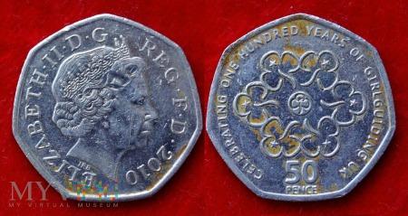 Wielka Brytania, 50 pence 2010