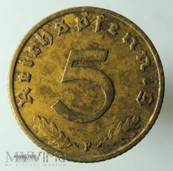 5 reichspfennig 1939 F