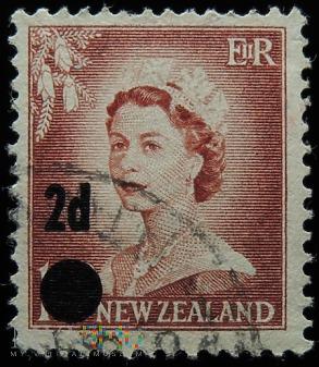 Nowa Zelandia 1 1/2 - 2 D Elżbieta II