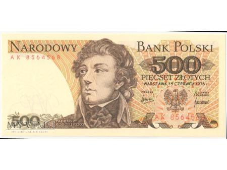 500 złotych 1976 rok seria AK
