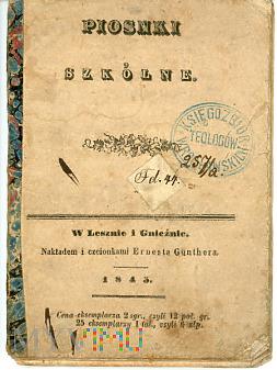 Piosenki szkolne - 1845