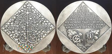 280. 40 lecie powstania Oddziału PARASOL 1943-1983