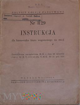 R29-1946 Instrukcja dla kierownika biura wagonow.