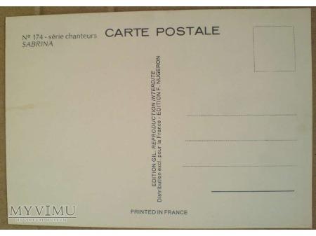 Duże zdjęcie Sabrina Salerno sexbomba lat 80-tych pocztówka