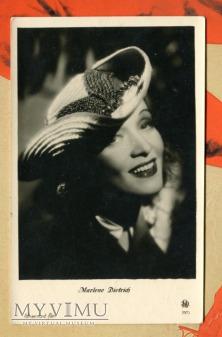 Marlene Dietrich Łotwa Pocztówka IRA Riga 2573