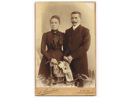 Duże zdjęcie Karl Engel z drugą żoną