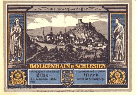 Notgeld Bolkenhain in Schlesien 1 M