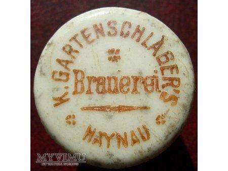 Gartenshlager s Brauerei Haynau -Chojnów