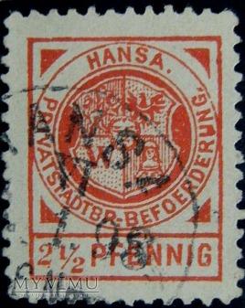 Znaczek Poczty prywatnej we Wrocławiu 1898 r.