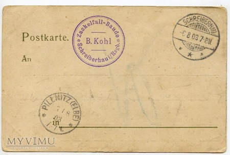 Karkonosze - Wąwóz Kamieńczyka - Zackelklamm 1903