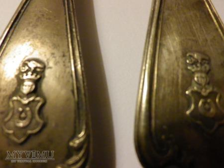 Herb Jastrzębiec-widelec i łyżka srebro