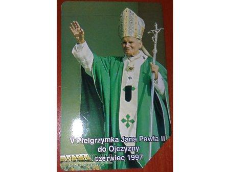 Karta telefoniczna z Janem Pawłem II