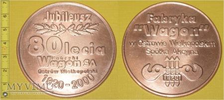 Medal kolejowy - firmowy Fabryki Wagon Ostrów W.