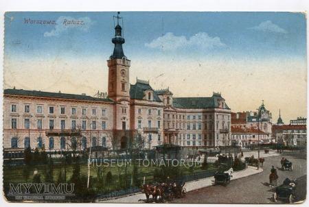 Warszawa - Plac Teatralny - Ratusz - przed 1918