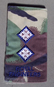 Oznaka stopnia: porucznik Royal Engineers