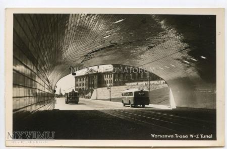 Warszawa - Trasa W-Z (Tunel) - 1954 ok.