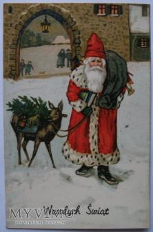1926 Świety Mikołaj Wesołych Świąt